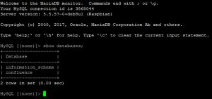 mysql show databases